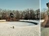 Zimowe zdjęcia Łazienki Królewskie w Warszawie