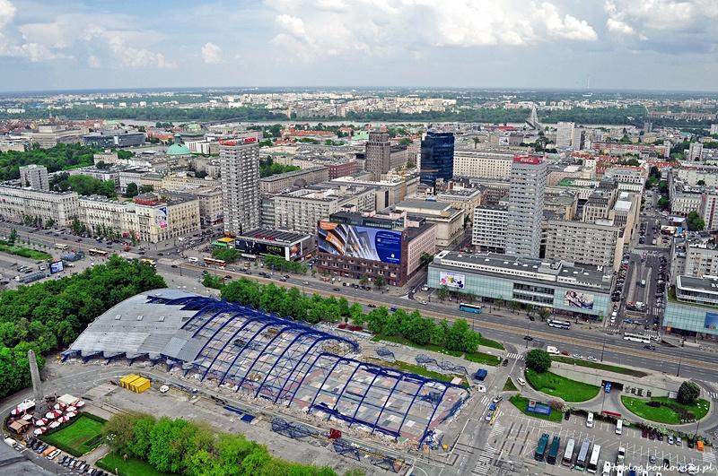 Warszawa - widok z Pałacu Kultury i Nauki