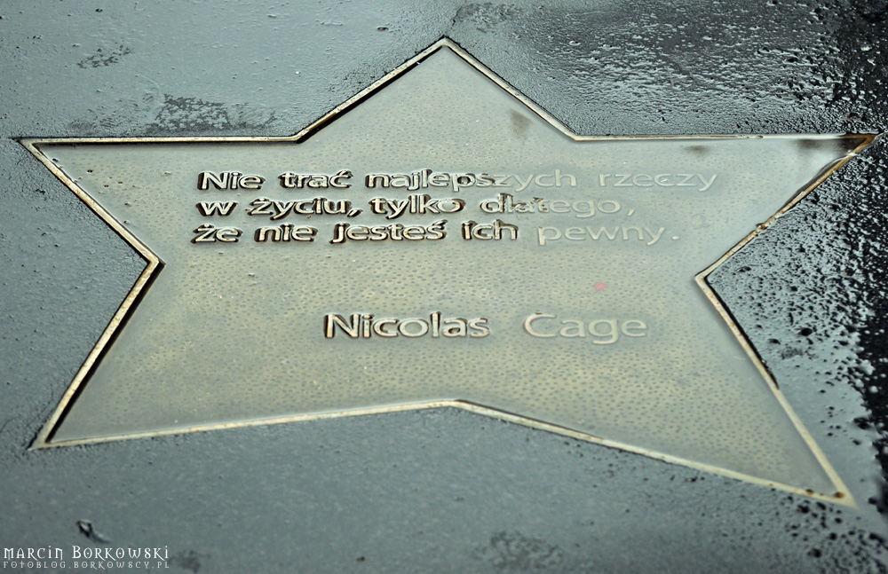 Co powiedział Nicolas Cage na gwieździe?