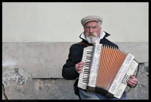 Akordeonista w Warszawie