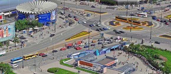 Warszawa na zdjęciach z lotu ptaka