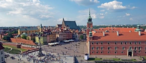 Panorama Placu Zamkowego i jego okolice