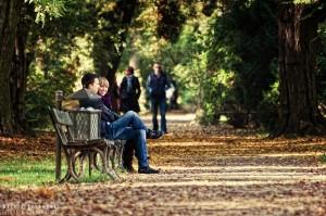 Jesienna sceneria w warszawskich Łazienkach