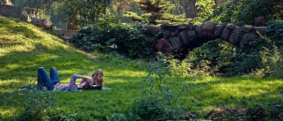Jesienny Park Skaryszewski w Warszawie