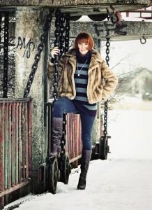 Zimowe zdjęcie Kasi