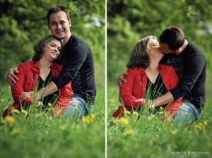 Namiętny pocałunek Ani i Pawła