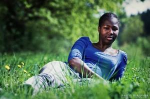 Daisy na zielonej trawce
