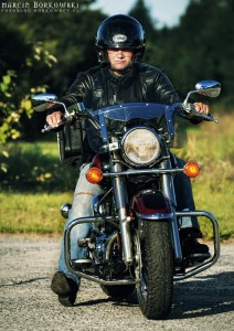 Andrzej na motocyklu