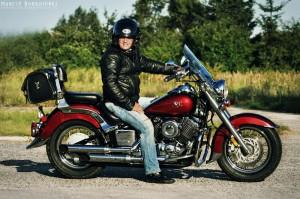 Andrzej na Yamaha Drag Star