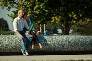 Odpoczynek przy fontannach w Warszawie