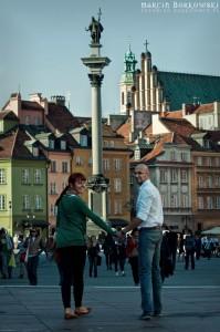 Monika + Michał i Zygmunt w tle