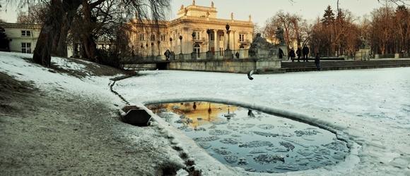 Zimowe Łazienki Królewskie w Warszawie