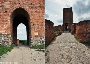 Zamek w Czersku - wieża z bramą wjazdową