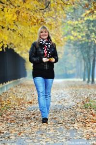 Jesienna ścieżka w Powsinie