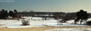 Zima na Górkach Szymona w Zalesiu Dolnym